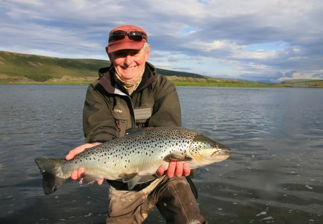 Fly fishing for brown trout – Big Laxa, Iceland