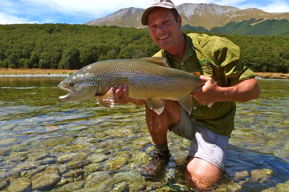 New zealand freshwater hosted trips fly fishing with fly for New zealand trout fishing